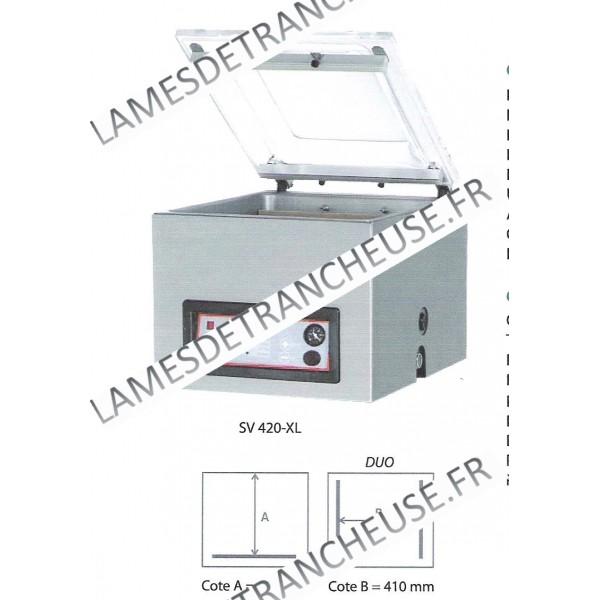 machines pour sacs sous vide sv 420 xl lames de trancheuse. Black Bedroom Furniture Sets. Home Design Ideas