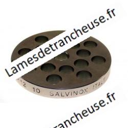 PLAQUE INOX  MOD.12/10 MM sans museau