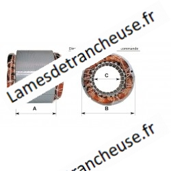 STATORE C80/80 Ø 125 hauteur 80 230V 1400 tours Mn 380 W CL.F