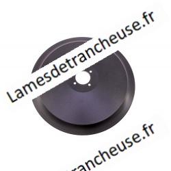LAME AVEC TEFLON dentée pour fromage   370x57x4x300x22,5 100Cr6 sur commande