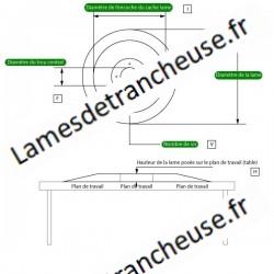 Lame 350X57X4X280X22,5 100CR6